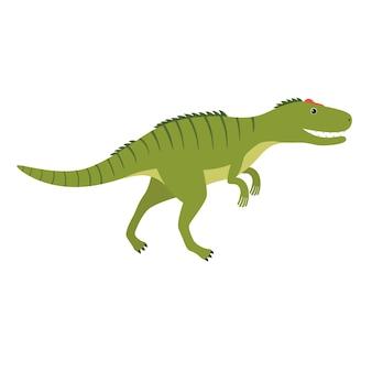 Аллозавр. доисторическое животное. векторная иллюстрация динозавра изолированы