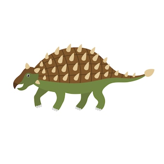 かわいい漫画のアンキロサウルス。