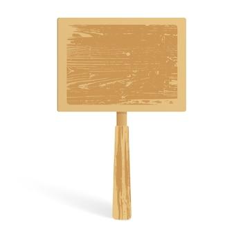 Деревянный баннер на ручке