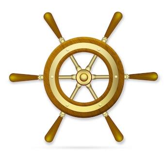 Колесо корабля вектор