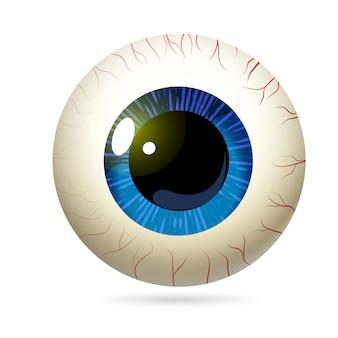 Желтое глазное яблоко реалистично