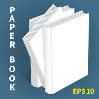 紙の本のモックアップ