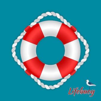 カモメと救命浮輪