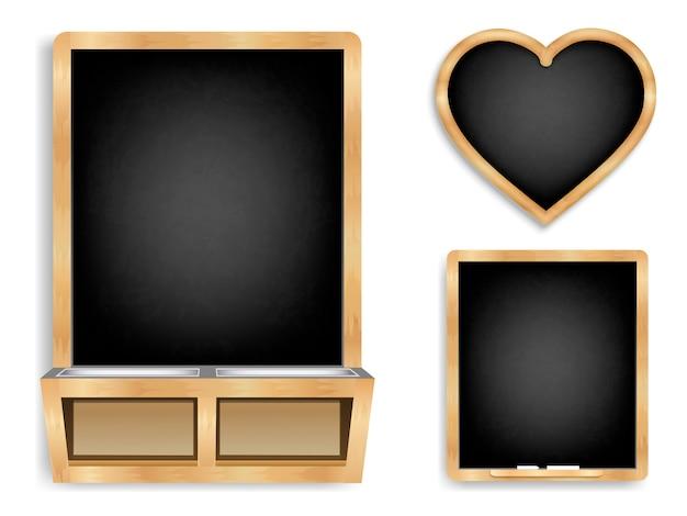 Меловые черные доски фон набор
