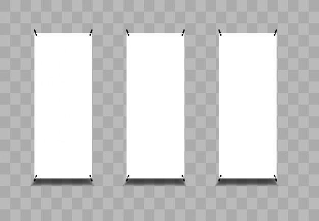 ロールバナーベクトルイラスト空白の透明な