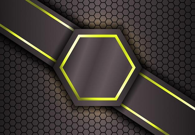 Фон шестиугольника в золотом свете