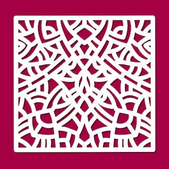 Лазерная вырезать вектор орнамент квадратной панели.