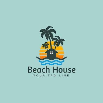 Дизайн логотипа пляжного домика