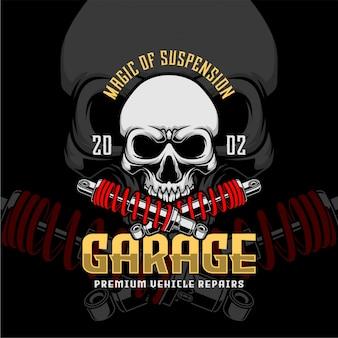 Череп гараж премиум