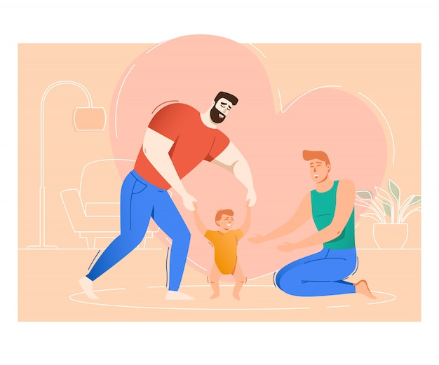 Два отца воспитывают сына