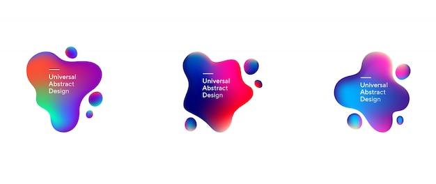 Коллекция абстрактных течет жидкой формы
