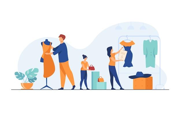 Организует торговое помещение в бутике