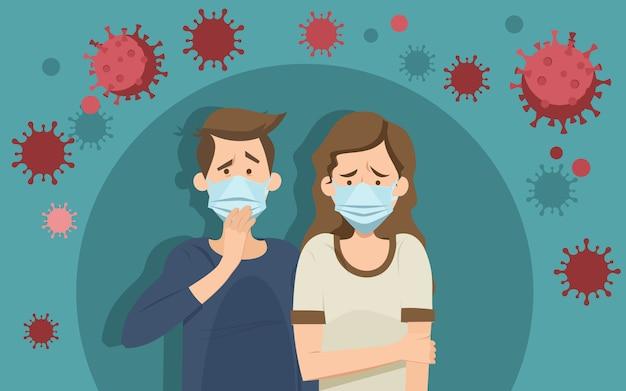 コロナウイルスパニックコンセプト