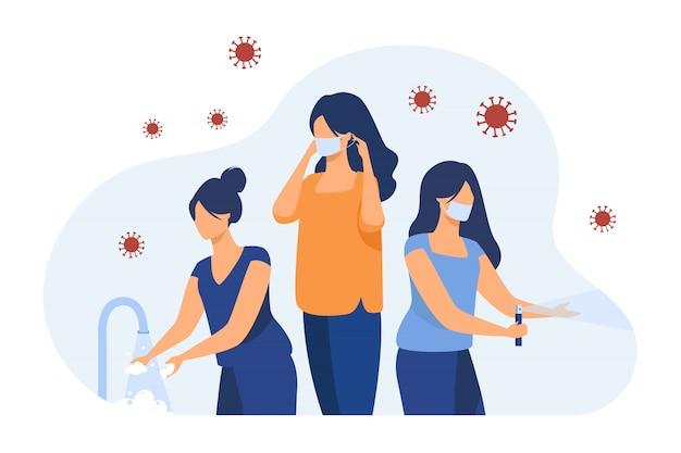 コロナウイルスからの保護のための衛生ガイド