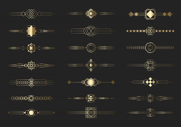 Установлены современные золотые разделительные линии