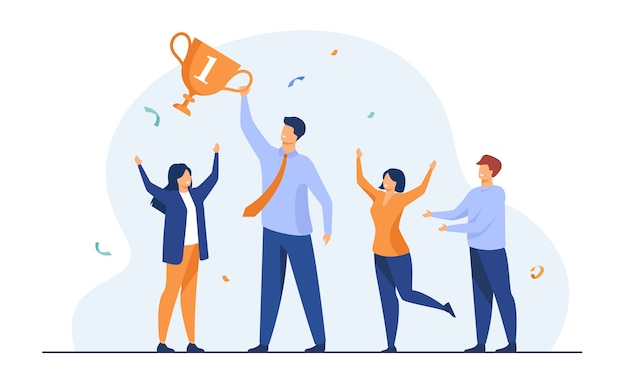 チームワークとチームの成功のコンセプト
