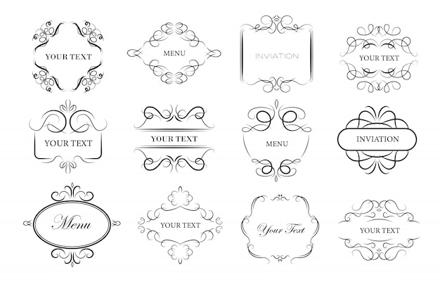 Набор рамок старинного орнамента