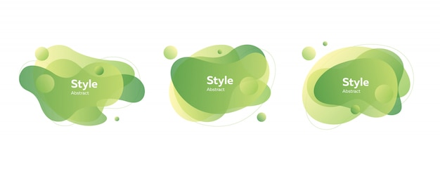 Светло-зеленые значки пузыря