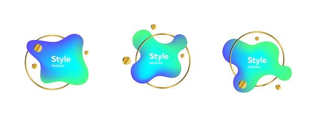 金の指輪のある液体の形