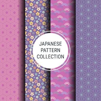 Коллекция японских весенних узоров