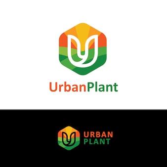 都市の植物のロゴ