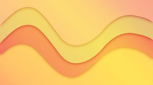 豪華なカラフルな波状の背景