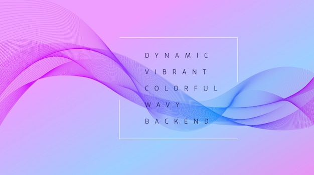 Динамический яркий красочный фон волны