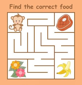 正しい食べ物を見つける
