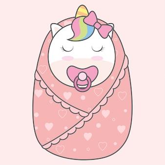 生まれた赤ちゃんユニコーン
