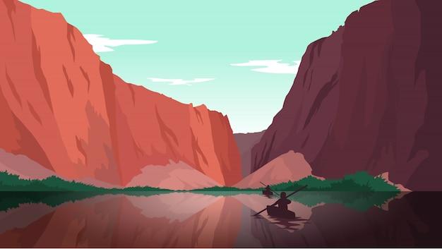 フラットデザインの風景の壁紙