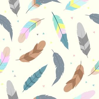 かわいい羽の壁紙のためのシームレスなパターン