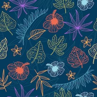 壁紙のための熱帯のシームレスパターン