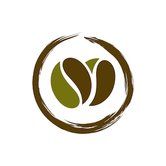 コーヒーショップのロゴデザインテンプレート
