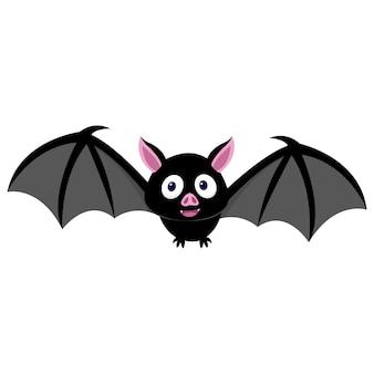 真夜中に飛んでいるかわいい小さなコウモリ