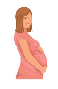妊娠中の女性が赤ちゃんを待っている