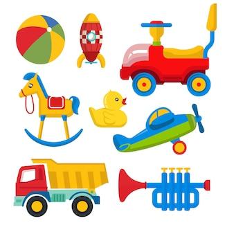 Набор красочных детских игрушек