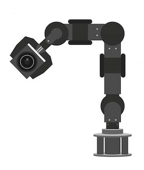 工場で高性能のロボットアームを持ち上げる