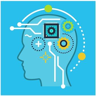 技術と人工知能のシンボル
