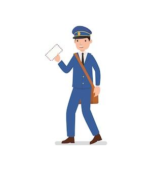 郵便配達員は手紙を送る