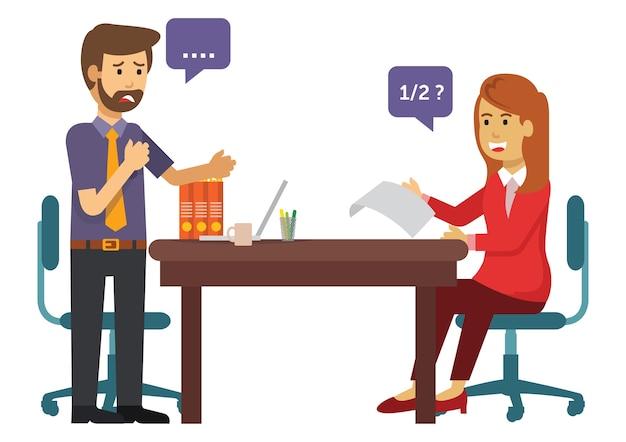 Два человека говорят о бизнесе