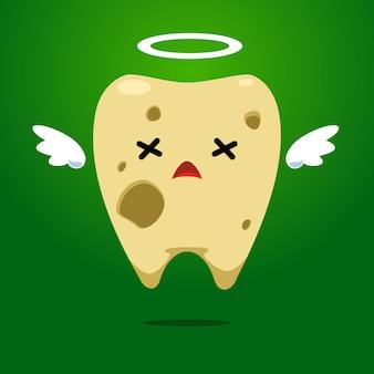 ハローリングで黄色い歯を腐らせる
