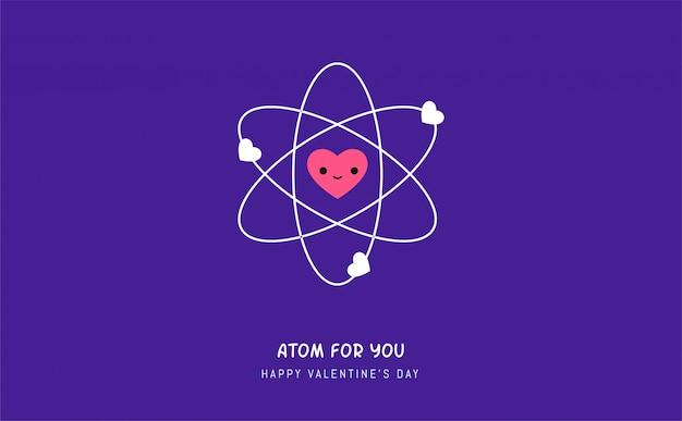 Атом любви. векторная иллюстрация