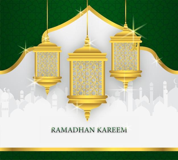 Рамадхан открытка с изображением фонаря