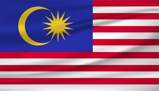 Развевающийся флаг малайзии