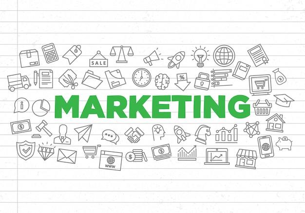 創造的なマーケティングの背景のイラスト