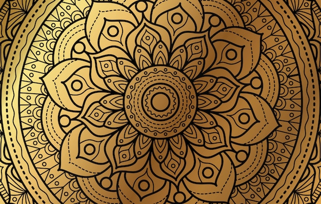 ゴールドの高級花柄のエレガントな背景