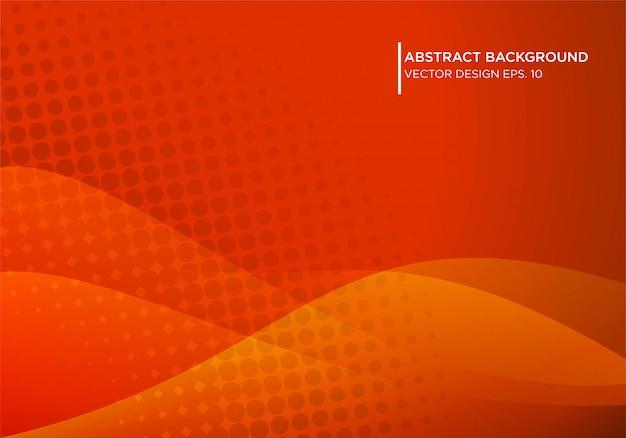 モダンな形状のコンケットと抽象的な赤い背景デザイン