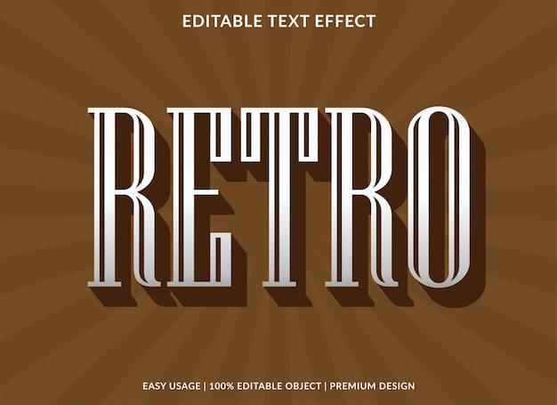 Шаблон текста в стиле ретро с винтажным шрифтом и жирным шрифтом