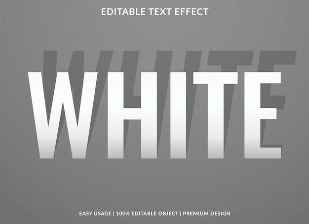 Белый текстовый шаблон эффекта со стилем типа тени и жирным шрифтом