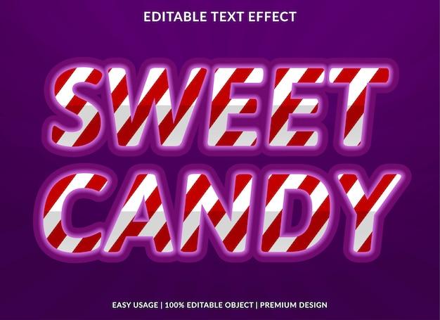 Шаблон эффекта текста конфеты
